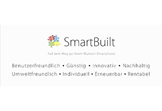 Screenshot der SmartBuilt Website