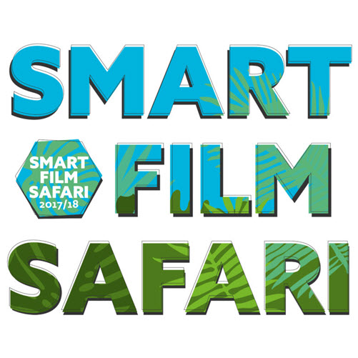 Logo der Smart Film Safari 2017/18; Aufschrift: Smart Film Safari