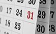 Ausschnitt eines Kalenderblatts